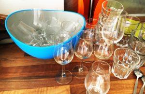 Whiskyglas spülen